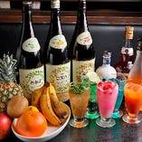 甘酸っぱい果実酒に遊び心満載のサワーも人気