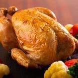 ひな鶏半身のローストチキン