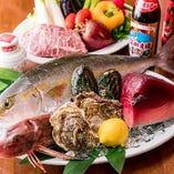 毎日シェフ自ら仕入れる新鮮魚介