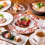 お祝いコース 福寿〈全8品〉8,000円(税抜)※メインが鯛の姿煮