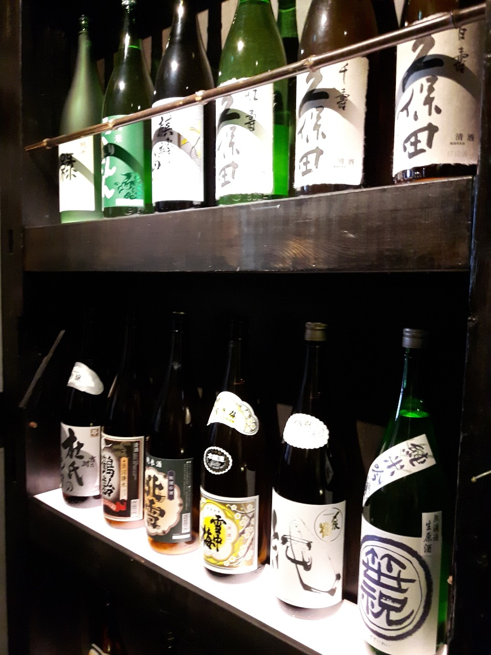 ▼新潟の地酒、季節限定酒も豊富