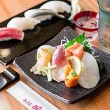 鮨と肴と酒の調和をお楽しみください
