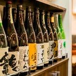 日本酒、焼酎など、100種以上常備しております