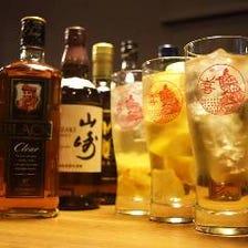 ウイスキー・果実酒が充実