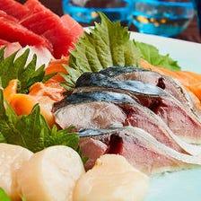 鮮度に自信あり!旬の海鮮料理が多数