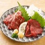 熊本の名物料理「馬肉の刺身」