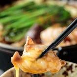 珍しいもつのすき焼きもご用意♪ 本場博多の人気料理!