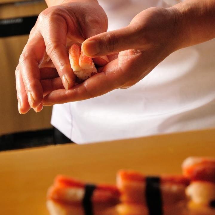 職人の握るお寿司をリーズナブルに