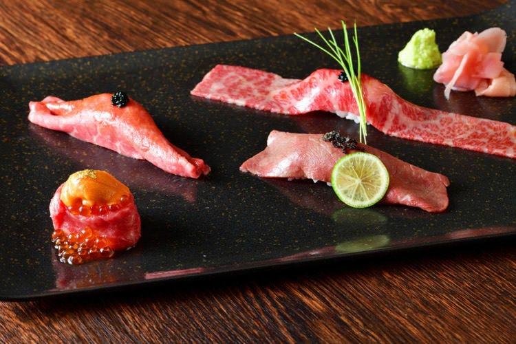 大人気の生肉メニューや肉寿司を堪能できるコース