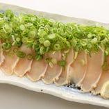 鶏のタタキ 葱まみれポン酢