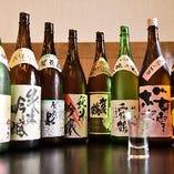 西条の地酒をはじめ日本酒が多彩