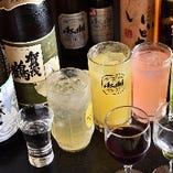 【充実のドリンク】 定番酒から地元西条の地酒まで豊富な品揃え