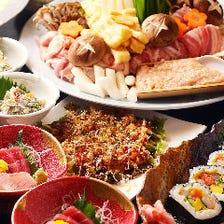飲み放題付★選べる人気鍋&鮮魚で手軽に宴会【楽(らく)コース】