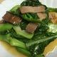 芥藍(カイラン)の炒め。中国野菜を使った料理も多数あります。