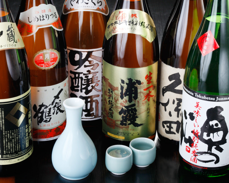 利き酒師が厳選!旬の日本酒勢ぞろい