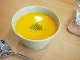 豆乳ベースの「かぼちゃの冷製スープ」