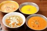 具材の栄養を余すところなくいただける季節のスープ4種
