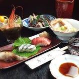 旬の料理や江戸前寿司を存分に味わえるおまかせコースも充実