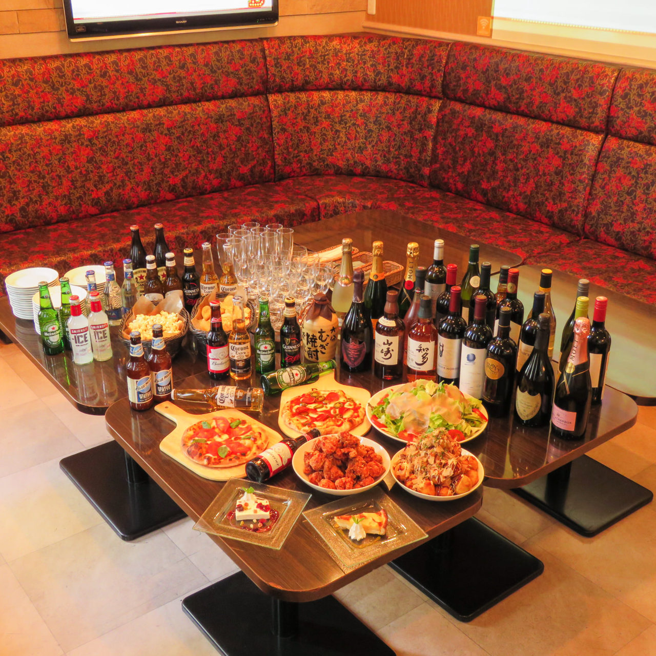 【1日3組限定!】食べ放題プレミアム!本格ピザやパスタ全35品の食べ飲み放題コース♪