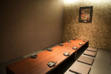 最大12名様までの完全個室。2部屋あります。