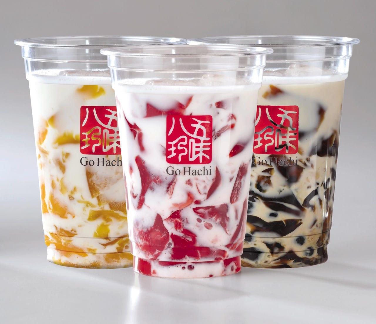 3種の飲む杏仁ゼリーミルク新登場!