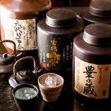 九州料理に合う焼酎を豊富に取り揃えております