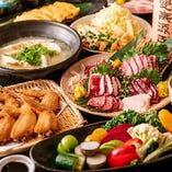 九州料理と名物料理をギュッと詰め込んだ宴会コース
