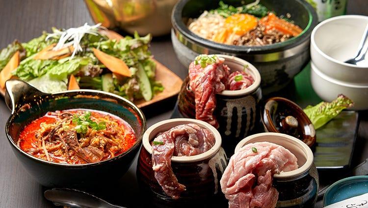 今日の気分は焼肉?韓国料理?それぞれのコースをスタンバイ♪
