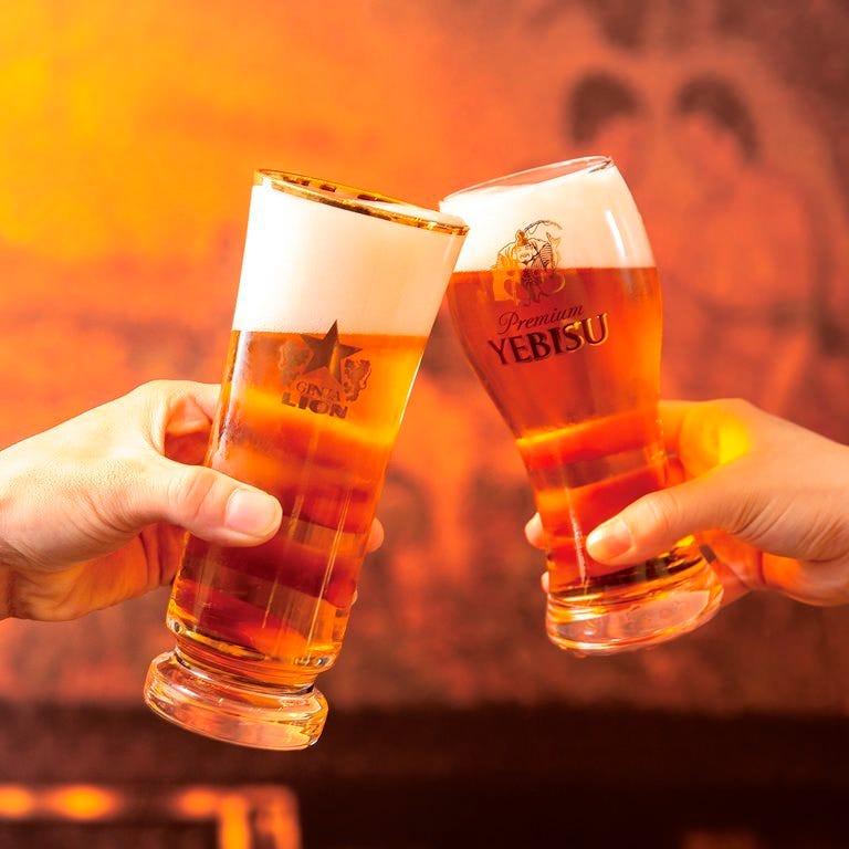 豊富なラインナップ! ビールは10種類以上取り揃えております。