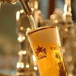 生ビールならB1Fビヤホールへ!伝統の一度注ぎ生ビールを!!
