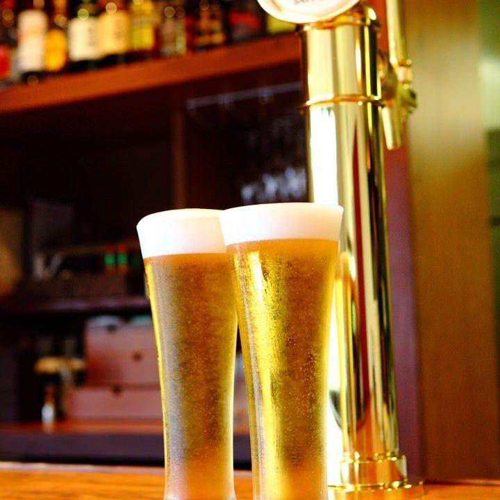うまい生ビール!!