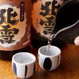 厳選した佐渡ヶ島や新潟の地酒を多数ご用意!佐渡産「北雪」も◎
