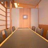 プライベートをしっかり守られた完全個室は2名様からご利用可能