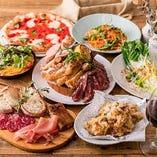窯焼きピッツァ&肉盛りでカジュアルパーティ『3種肉盛りグリルコース』