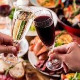 イタリア料理と相性のいいドリンクを豊富にご用意