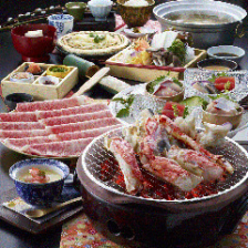 たらば炭焼と牛しゃぶ海鮮コース〈全9品〉6,980円(税抜)