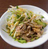 砂肝とザーサイの中華ナムル