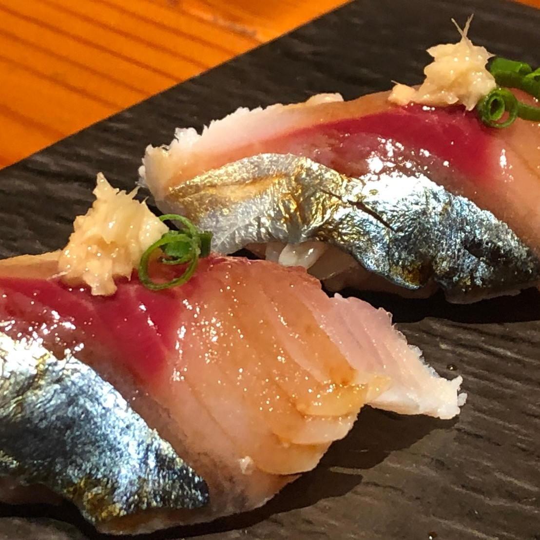活きの良い鮮魚のお寿司♪♪