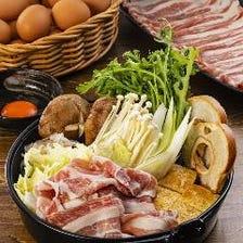 大阪の銘柄豚!犬鳴ポークを使用したすき焼き×堺 吉田ファームの卵が堪らない!すき焼き宴会コース
