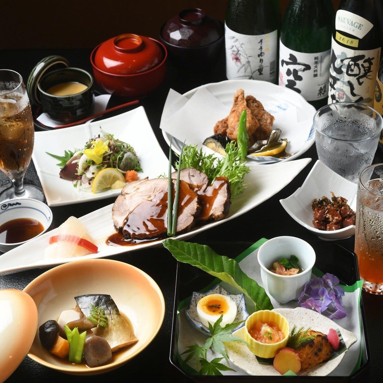 季節の味覚を存分にご堪能いただける種類豊富なコース料理