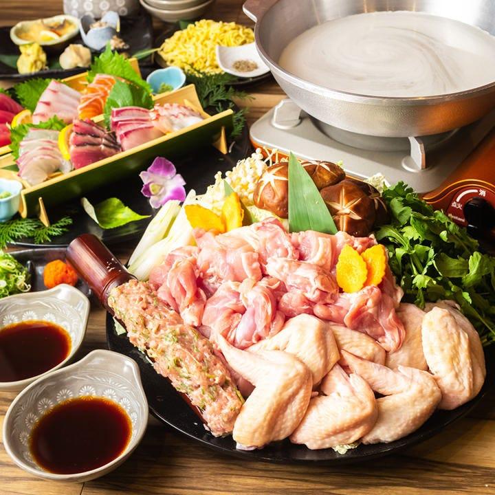 【期間限定】新鮮な鶏肉を具沢山のアツアツお鍋で満喫♪〆も絶品!『かしわ(鶏)鍋コース』