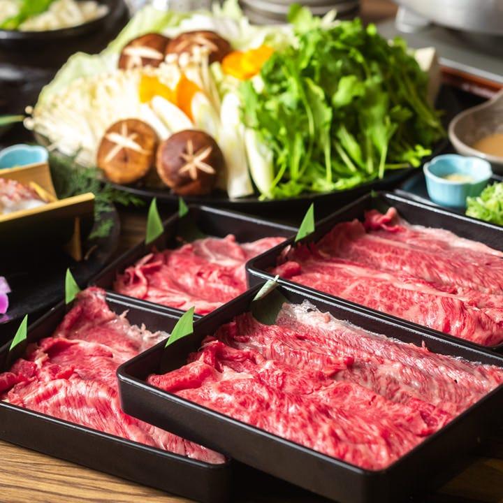 【期間限定】豪華食材集合!特別な日にはちょっと贅沢に◎『黒毛和牛しゃぶしゃぶ鍋コース』