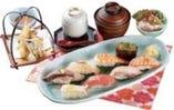 お昼のにぎり天ぷら膳