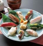 お昼のメニュー【房総地魚にぎり】15食限定