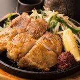 鶏もも肉の壱枚焼き