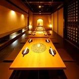 [テーブル個室多数!] モダンな席はご宴会に大人気♪