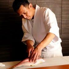 板前が握る寿司をご提供