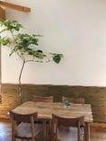 木の温もりを感じるナチュラル系のテーブル席
