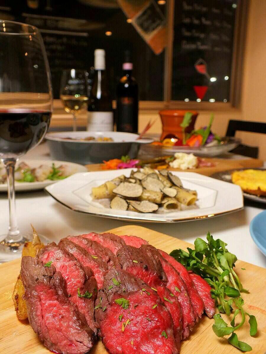 【イタリアンディナー5500円コース】NZ産ラム肉+鮮魚のポワレ等8品+[飲放]