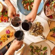 肉料理と鮮魚のイタリアンディナー
